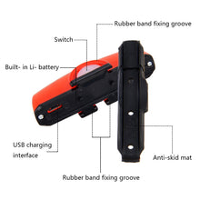 Load image into Gallery viewer, Bike Taillight USB Rechargeable Bicycle Riding Rear Light  with 650 mAH Built-in Battery