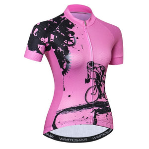 Weimostar 2019 Summer Cycling Jersey Shirt Women Team Bicycle Clothing
