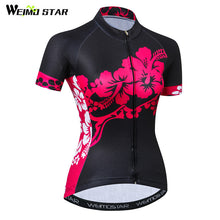 Load image into Gallery viewer, Weimostar 2019 Summer Cycling Jersey Shirt Women Team Bicycle Clothing