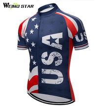 Load image into Gallery viewer, Weimostar Bike Team Racing Sport USA Cycling Jersey