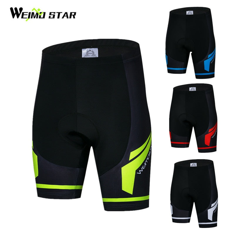 ARSUXEO Men Bicycle Bike Cycling Shorts Gel Padded Sport Pants Shockproof Trunks