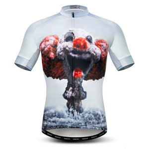 Weimostar Skull Riding Cycling Jersey Men Mountain Bike Jersey
