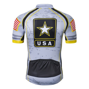 Weimostar USA Army Team Cycling Jersey Men