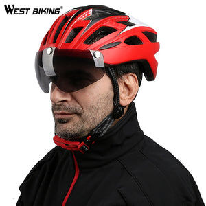 West Biking Bicycle Helmet Sunglasses Cycling Glasses Lens Integrally Molded