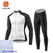 Load image into Gallery viewer, Winter fleece  Cycling set men Cycling jersey Long sleeve bike