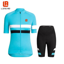 Load image into Gallery viewer, Women cycling jersey  Summer Quickdry Breathable Classic blue
