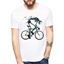 Load image into Gallery viewer, Worn out Bikes T-shirts Men Funny Skeleton bicycle