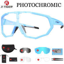 Load image into Gallery viewer, X-TIGER Photochromic Polarized Cycling Glasses Outdoor Sports MTB Bicycle