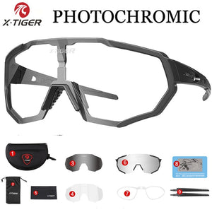 X-TIGER Photochromic Polarized Cycling Glasses Outdoor Sports MTB Bicycle
