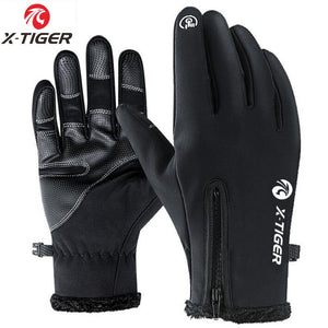 X-TIGER Touch Screen Bike Gloves Winter Thermal Windproof Warm