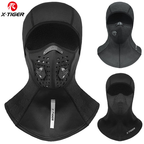 X-TIGER Winter Cycling Mask Fleece Thermal Cycling Cap Windproof Full Face Cover