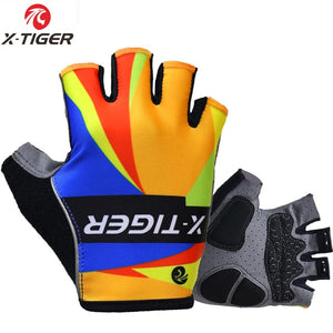 X-Tiger 3D GEL Pad Half Finger GEL MTB Bicycle Gloves Reflective Cycling