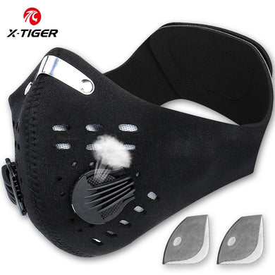 X-Tiger Pro Cycling Mask With KN95 Filter Cycling Mask Activated