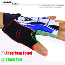 Load image into Gallery viewer, X-Tiger Top Quality Cycling Gloves Half Finger Bike Gloves Shockproof