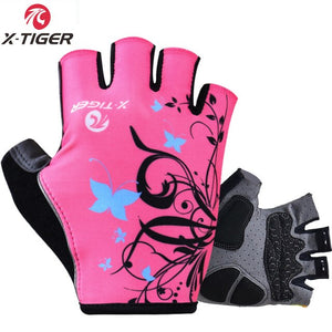 X-Tiger Women Cycling Gloves Non-Slip Breathable Women