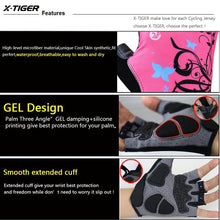 Load image into Gallery viewer, X-Tiger Women Cycling Gloves Non-Slip Breathable Women