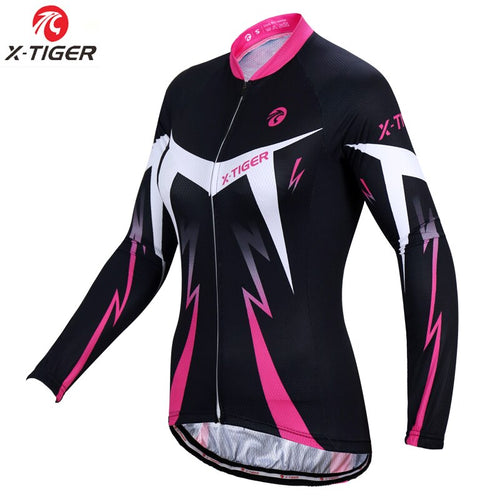 X-Tiger Women Winter Keep Warm Pro Cycling Jersey Long Sleeve