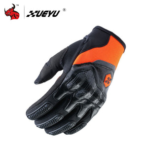 XUEYU Motorcycle Gloves Genuine Cowhide Leather Moto Motocross Glove