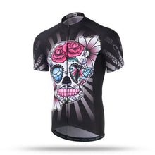 Load image into Gallery viewer, Xintown Printed Skull Cycling Short Sleeve MTB Cycling Jersey