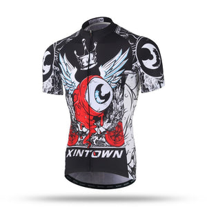 Xintown Printed Skull Cycling Short Sleeve MTB Cycling Jersey
