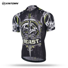 Load image into Gallery viewer, Xintown 2019 Skull Short Sleeve Cycling Jersey Men mtb Bike Jersey