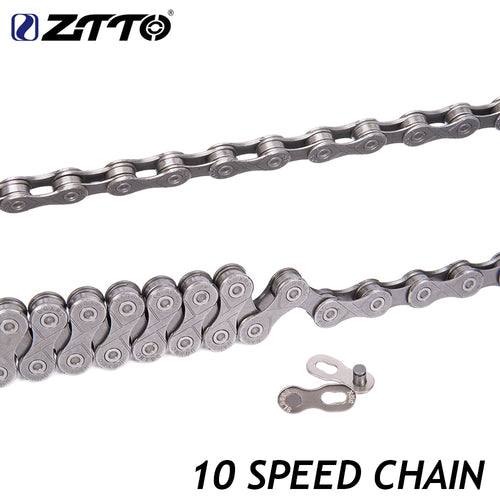 ZTTO 10 Speed Bicycle Chain Silver Grey Chrome Hardened Chains