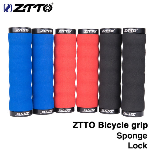 ZTTO   MTB Comfortable Sponge Shock-Proof Anti-Slip Lock Grips