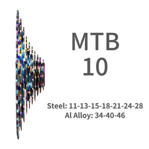 ZTTO MTB 10 Speed 11-46T SLR2 Ultralight Cassette Rainbow k7 HG