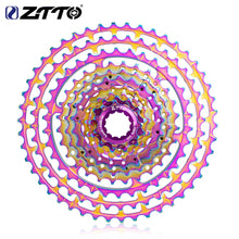 Load image into Gallery viewer, ZTTO MTB 10 Speed 11-46T SLR2 Ultralight Cassette Rainbow k7 HG