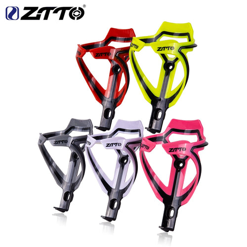 ZTTO MTB Bottle Cage Water Bottle Holder Socket Two-tone Ultralight Plastic