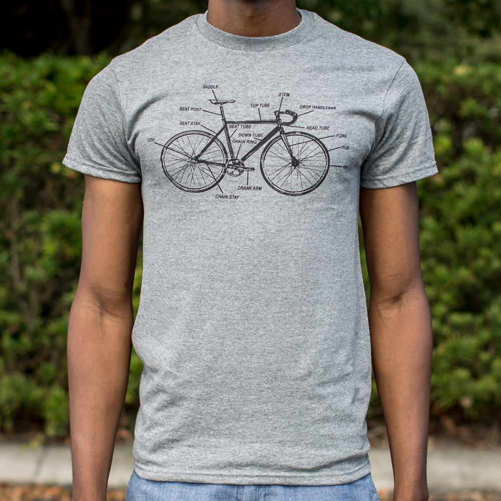 Bike Anatomy T-Shirt (Mens) - Bike-Moto