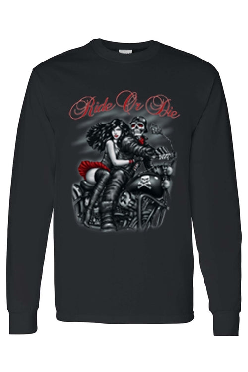 Men's/Unisex Biker Ride or Die Long Sleeve T-shirt