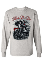 Load image into Gallery viewer, Men's/Unisex Biker Ride or Die Long Sleeve T-shirt
