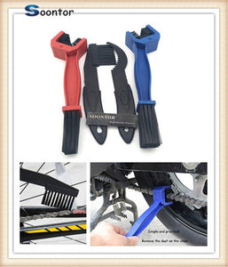 Motorcycle bike Chain Gear Dirt Remover Scrubber Cleaner Brush Tools