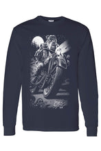 Load image into Gallery viewer, Unisex Long Sleeve Shirt Biker Bulldog Cats Suck