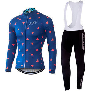 Phtxolue Winter Thermal Fleece Cycling Clothing Wear Jerseys Sets