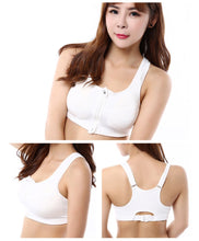 Load image into Gallery viewer, WEST BIKING Sport Bra Running Front Zipper Push-up Bra Cycling