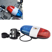 Load image into Gallery viewer, Bicycle Bell 6LED 4 Tone Bicycle Horn Bike Call LED Bike Police - Bike-Moto