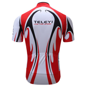 Teleyi Bike Team Men Racing Cycling Jersey