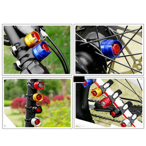 Bicycle Front Rear Tail Helmet Red Flash Lights - Bike-Moto
