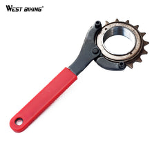 Load image into Gallery viewer, WEST BIKING Adjustable Cycling Carbon Steel Bike Wrench Chainwheel