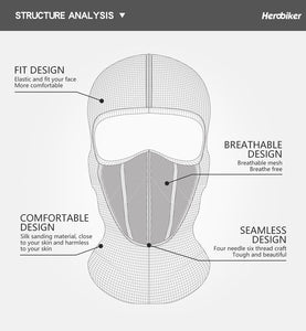 HEROBIKER Motorcycle Face Mask - Bike-Moto