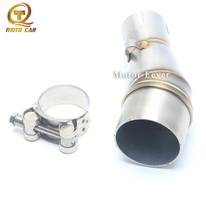 Motorcycle Exhaust Adapter Middle Link Pipe Connection Muffler