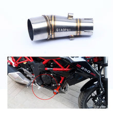 Load image into Gallery viewer, Motorcycle Exhaust Adapter Middle Link Pipe Connection Muffler