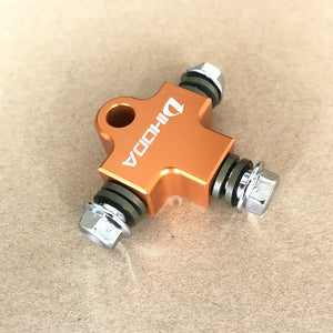 Hydraulic Brake Hose Pipe Tee Coupling Tee Fitting Tee Connector - Bike-Moto