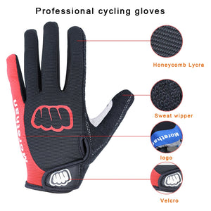 NEWBOLER Cycling Gloves Men Sports Full Finger Anti Slip Gel