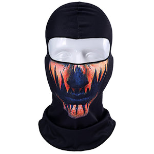3D Orcs Skull Motorcycle Balaclava Full Face Mask - Bike-Moto