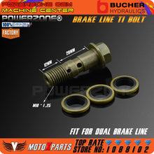 Load image into Gallery viewer, Motorcycle Double Banjo Bolt M10 *1.25 Pitch For Brake Dual Line
