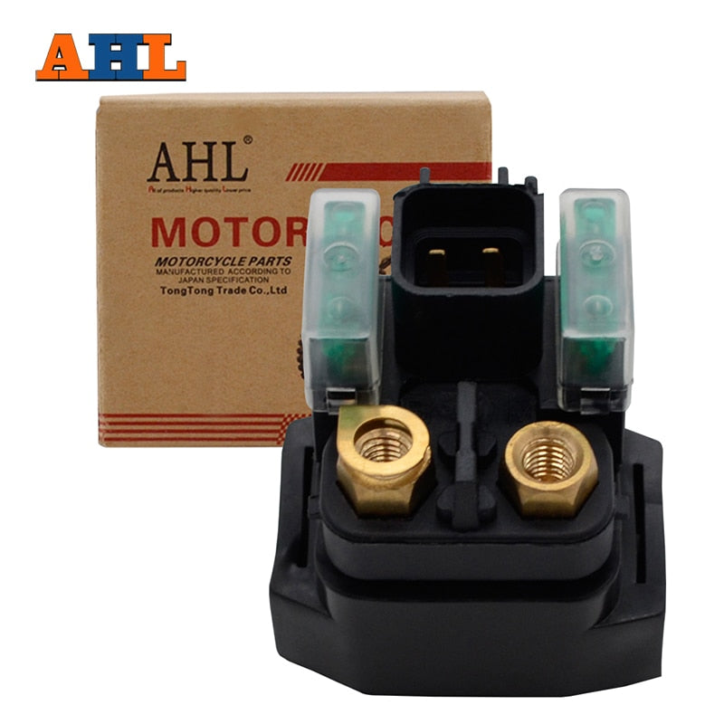 AHL Street ATV Motorcycle Starter Solenoid Relay Ignition Key Switch - Bike-Moto