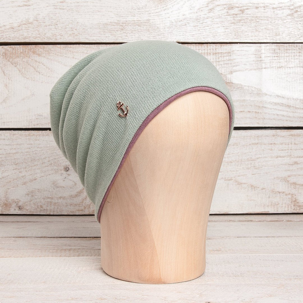 "Beanie ""Meri"" - Mint - Altrosa Meliert - INSELLIEBE Store - Insel Usedom"